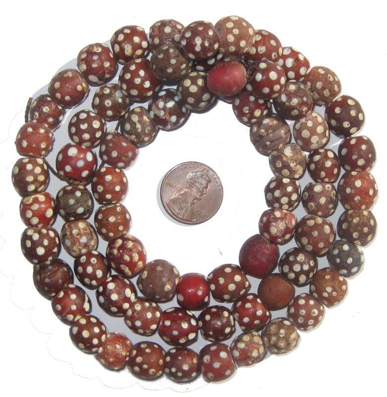 Red Antique Skunk Eye Beads - The Bead Chest