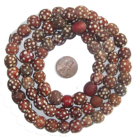 Image of Red Antique Skunk Eye Beads - The Bead Chest
