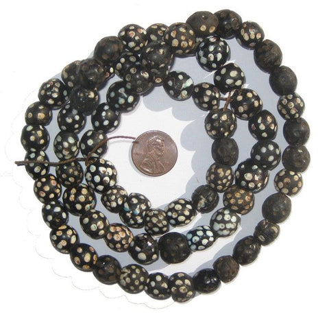 Image of Black Antique Skunk Eye Beads - The Bead Chest