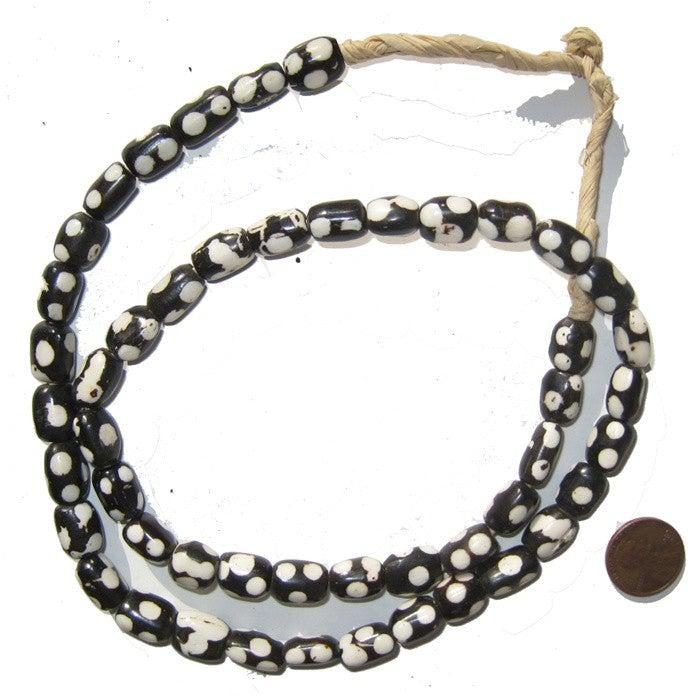 Polkadot Batik Bone Beads (Small) - The Bead Chest