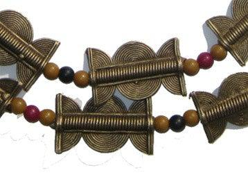 Brass Baule Beads, Sun Moon Design (33x24mm) - The Bead Chest
