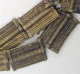 Baule Ghana Brass Metal Beads Rectangular - The Bead Chest