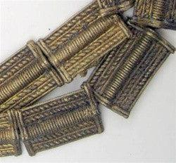 Image of Baule Brass Metal Beads Rectangular - The Bead Chest