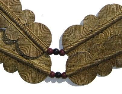 Double Sun Brass Baule Beads (65x34mm) - The Bead Chest