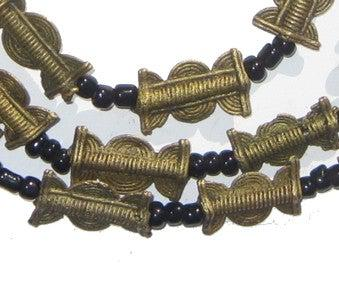 Brass Baule Beads, Sun Moon Design (17x10mm) - The Bead Chest