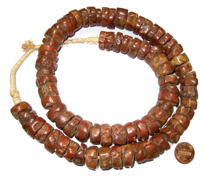 Large Bauxite Beads (7x14mm) - The Bead Chest
