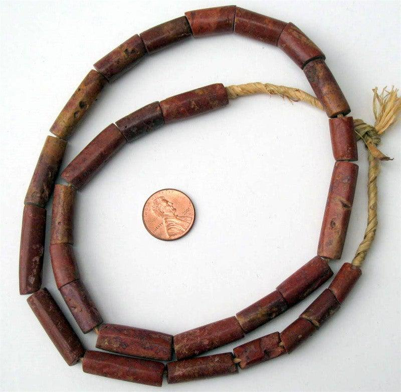 Cylindrical Bauxite Beads - The Bead Chest