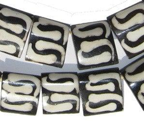 Swirl Design Batik Bone Beads (Flags) - The Bead Chest