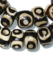 Eye Design Batik Bone Beads (Large) - The Bead Chest