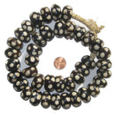 Polka Dot Batik Bone Beads (Large) - The Bead Chest