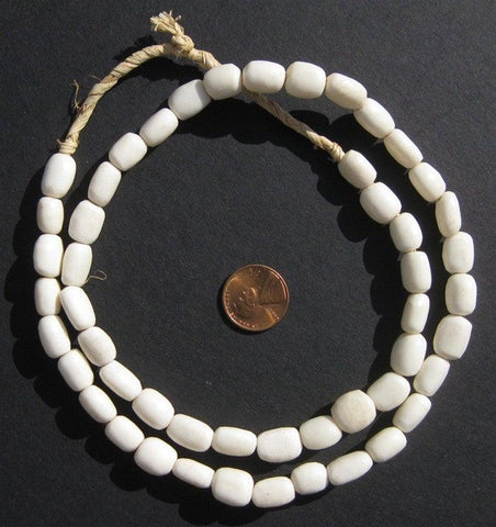 Image of White Bone Beads (Small) - The Bead Chest