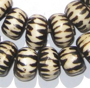 Chevron Design Batik Bone Beads (Large) - The Bead Chest
