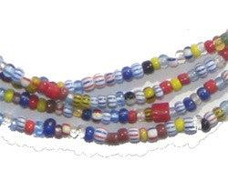 Mixed Chevron Christmas Beads, small (6 Strands) - The Bead Chest