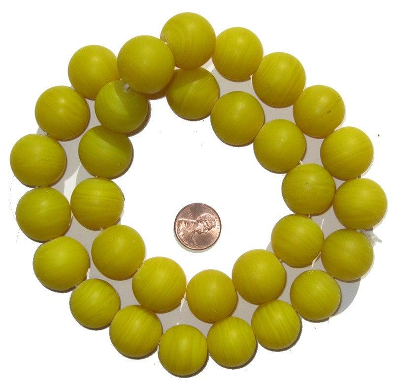 Round Colodonte Beads (Yellow) - The Bead Chest
