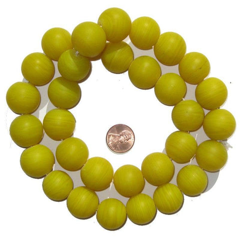 Image of Round Colodonte Beads (Yellow) - The Bead Chest