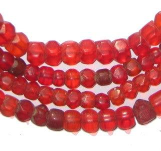 Old Bohemian Faceted Glass Beads - The Bead Chest