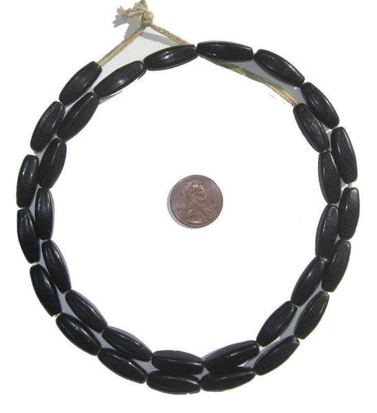 Black Bohemian Fulani Glass Beads - The Bead Chest