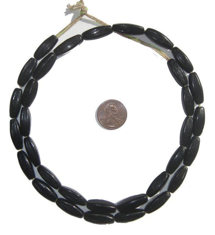 Image of Black Bohemian Fulani Glass Beads - The Bead Chest