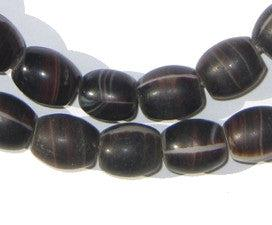 Old Bohemian Coffee Bean Wedding Glass Beads - The Bead Chest
