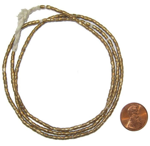 Small Brass Tube Ethiopian Beads