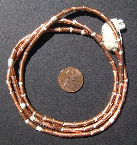 Copper Tube Ethiopian Beads (9x3mm)