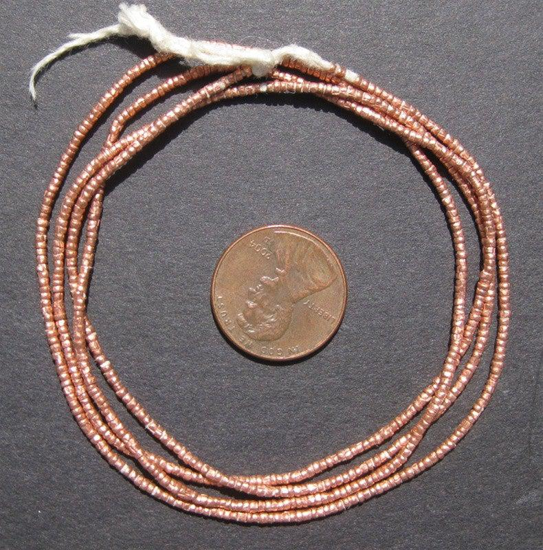 Copper Tiny Heishi Ethiopian Beads - The Bead Chest