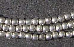 Silver Color Round Small Ethiopian Beads - The Bead Chest