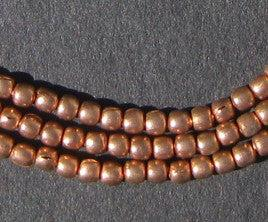 Copper Round Small Ethiopian Beads - The Bead Chest