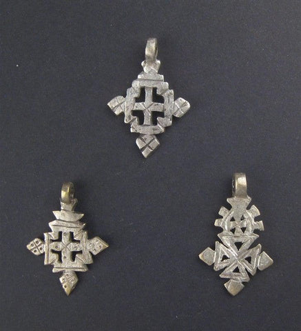 Image of Ethiopian Coptic Cross (Set of 3) - The Bead Chest