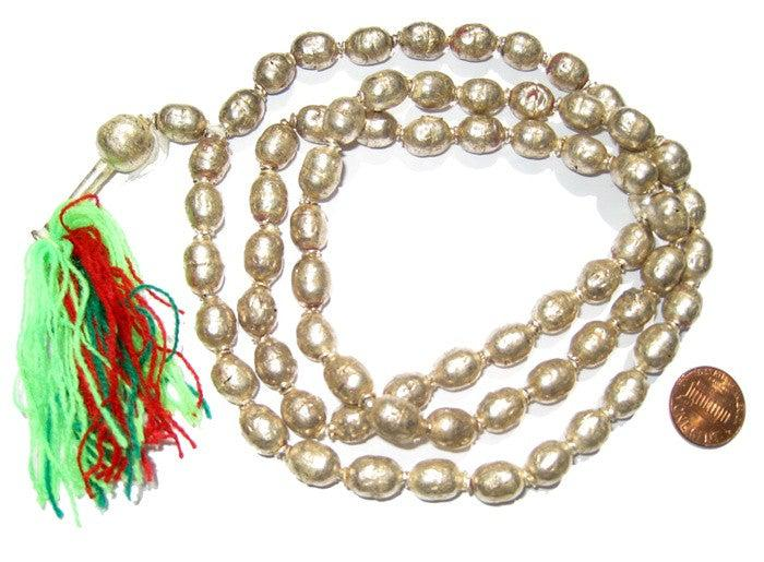 Silver Color Ethiopian Prayer Beads (12x9mm) - The Bead Chest