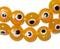 Evil Eye Beads (Orange) - The Bead Chest
