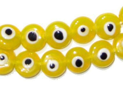 Yellow Evil Eye Beads - The Bead Chest