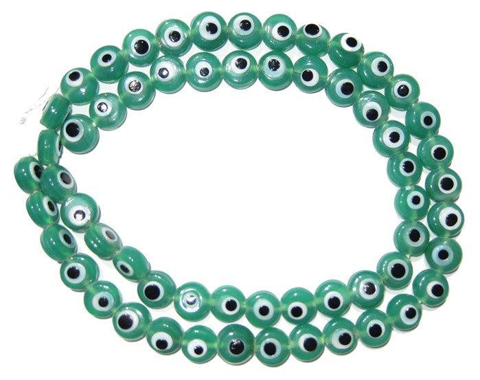 Green Evil Eye Beads - The Bead Chest