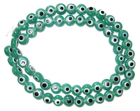 Image of Green Evil Eye Beads - The Bead Chest