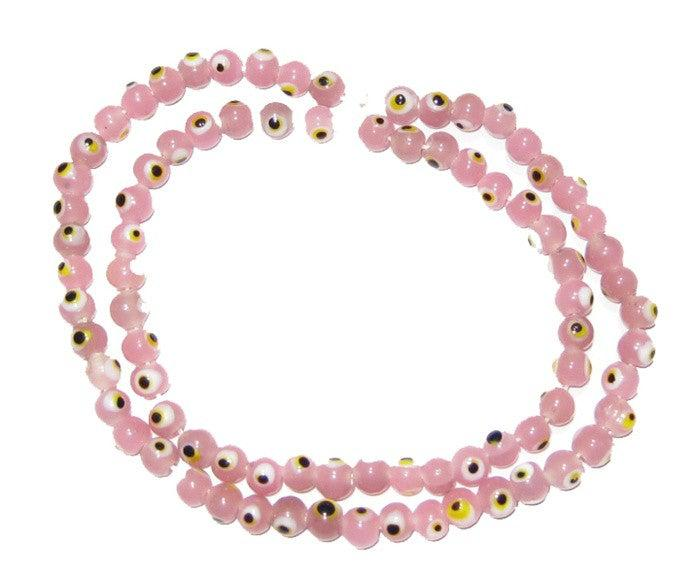 Small Evil Eye Beads (Pink) - The Bead Chest