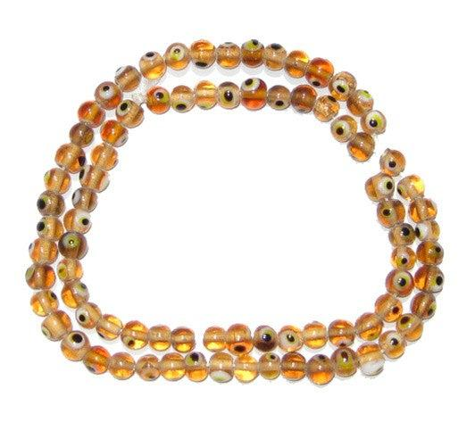 Small Evil Eye Beads (Amber) - The Bead Chest