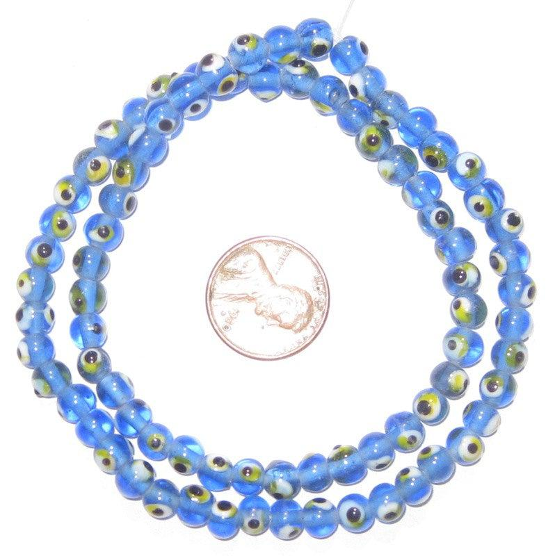 Small Evil Eye Beads (Blue) - The Bead Chest