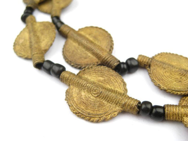 Simple Sun Design Brass Baule Beads (23mm)