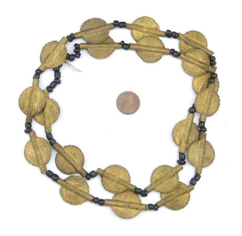 Smooth Sun Design Brass Baule Beads (22mm) - The Bead Chest