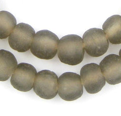 Groundhog Grey Recycled Glass Beads (11mm)
