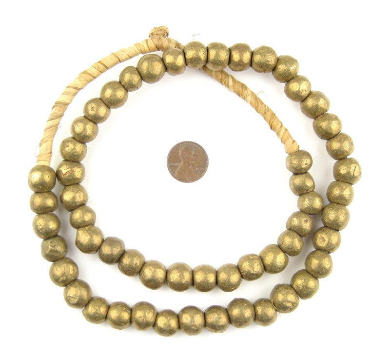 Nigerian Brass Globe Beads (12mm) - The Bead Chest