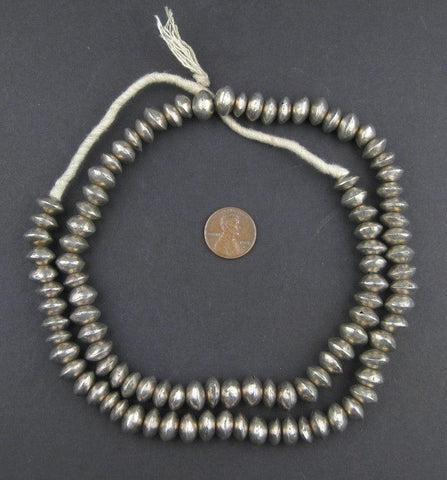 Mali Silver Bicone Beads (7x11mm) - The Bead Chest