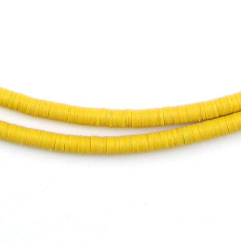 Sunflower Yellow Vinyl Phono Record Beads (4mm) - The Bead Chest