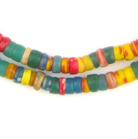 Rainbow Medley Kakamba Prosser Beads (7mm) - The Bead Chest