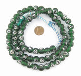 Green Glass Spherical Eye Beads (12mm)