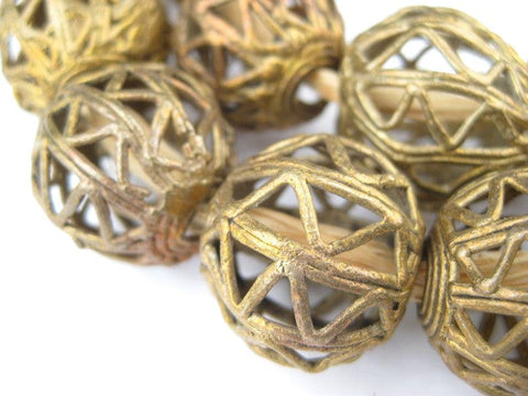 Round Nest Brass Filigree Beads (23mm) - The Bead Chest