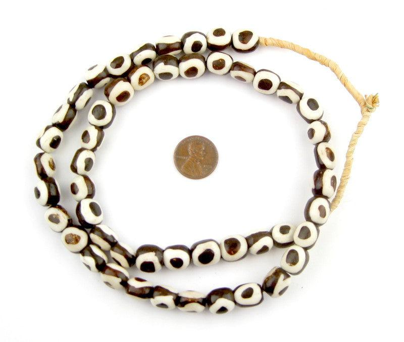 Inverted Eye Batik Bone Beads (Small) - The Bead Chest