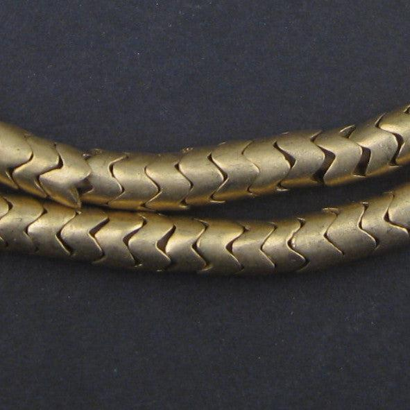 Brass Interlocking Snake Beads (6.5mm) - The Bead Chest