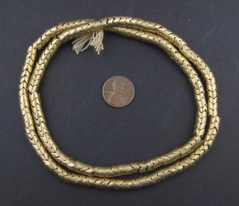 Image of Brass Interlocking Snake Beads (6.5mm) - The Bead Chest
