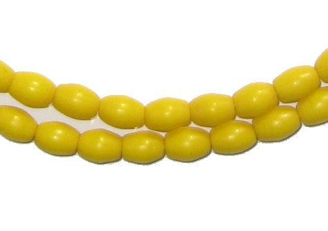 Yellow Ghana Rice Beads - The Bead Chest